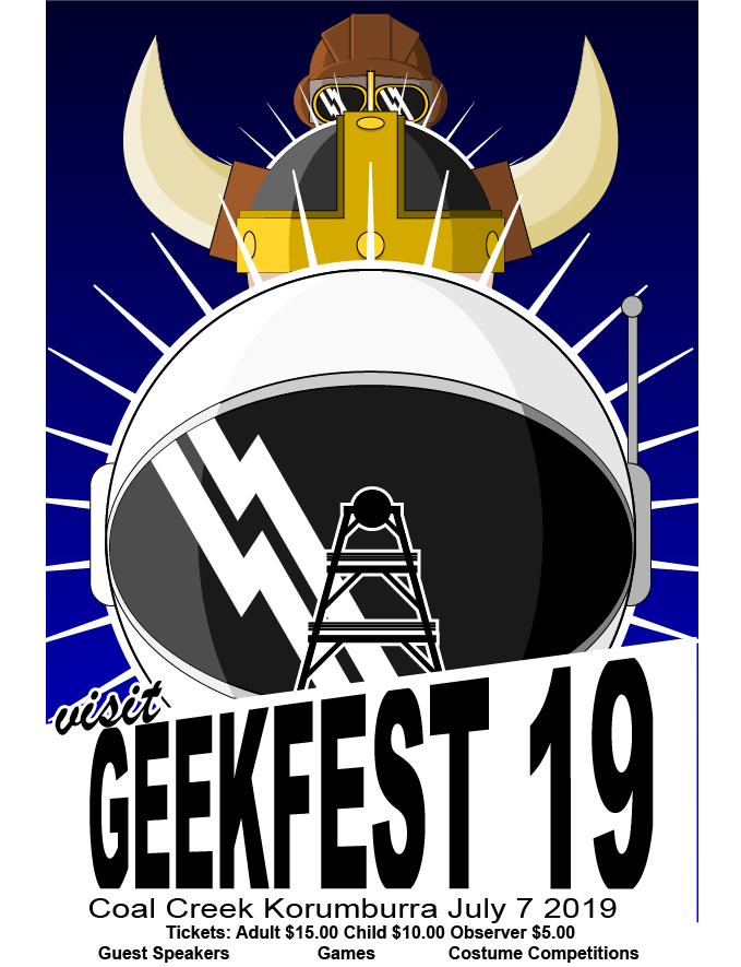 Geekfest Letter Drop Poster 2019